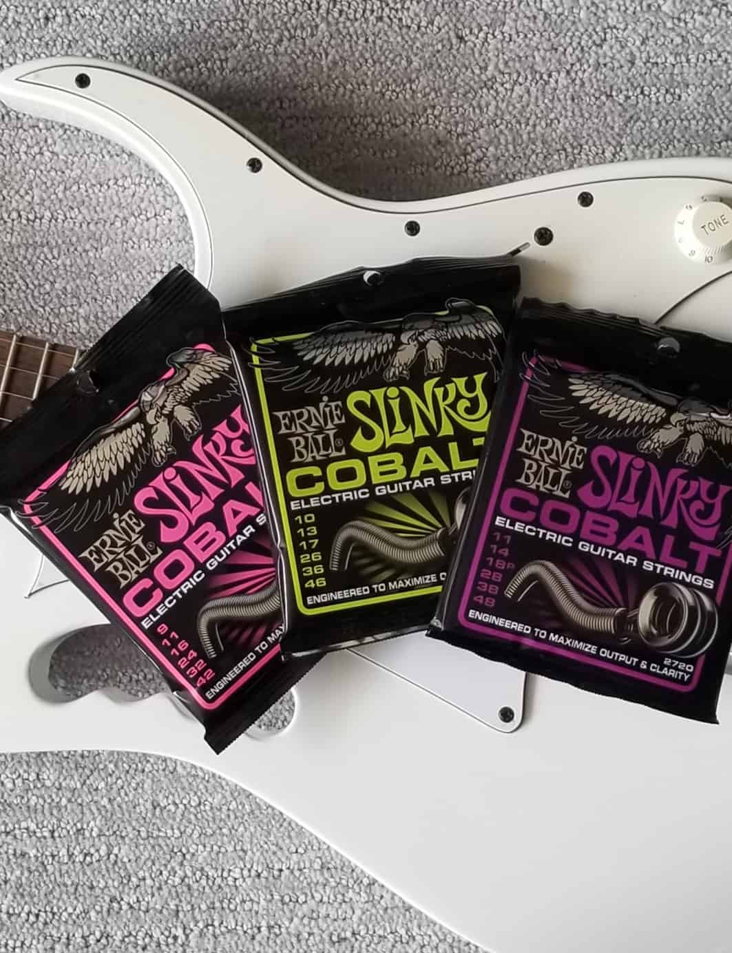 Ernie Ball Slinky Cobalt Electric guitar strings