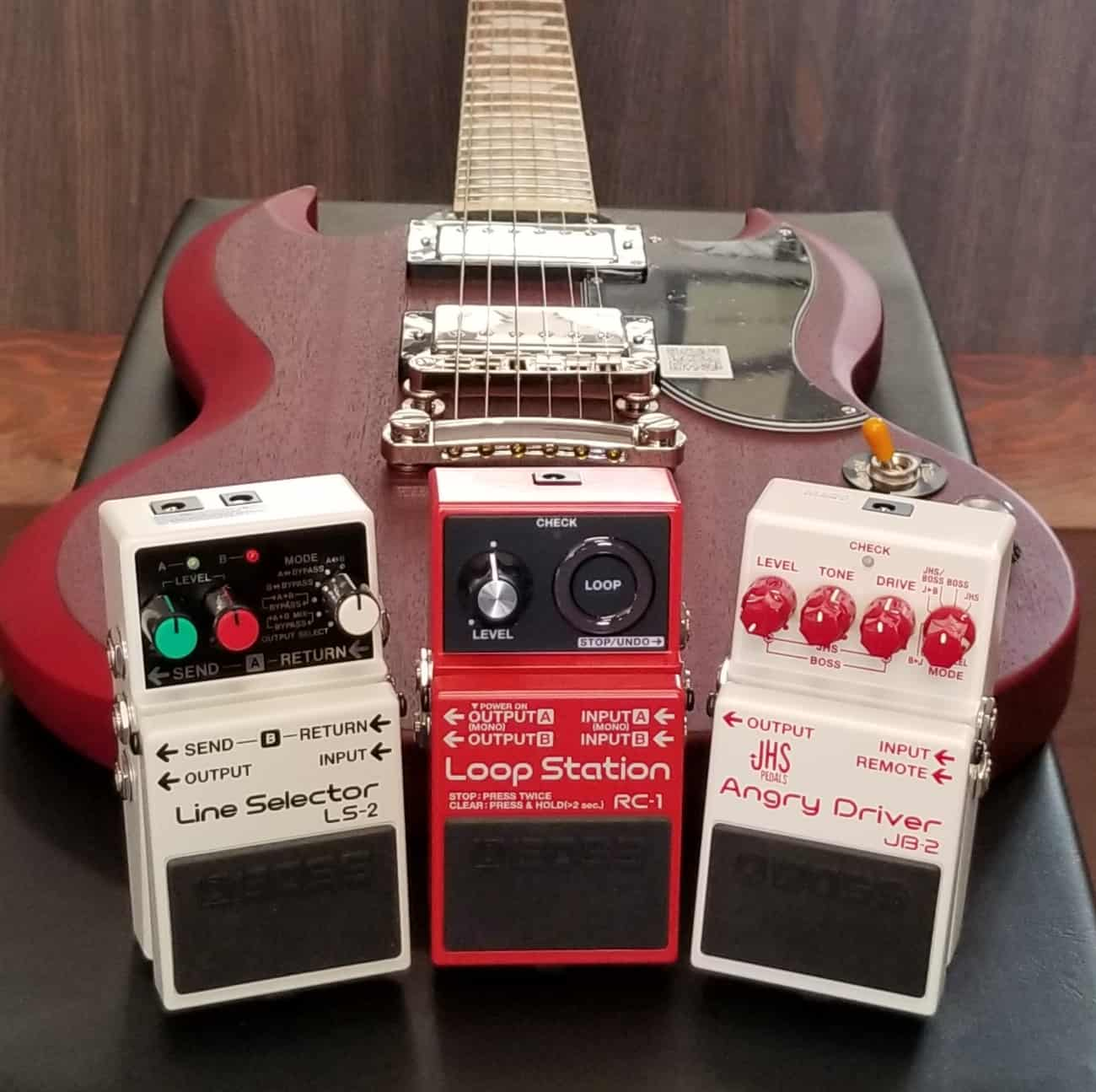 BOSS Effects Pedals Line Selector, Loop Station, Angry Driver