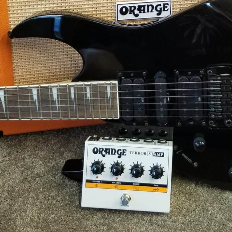 Orange Terror Stamp effects pedal
