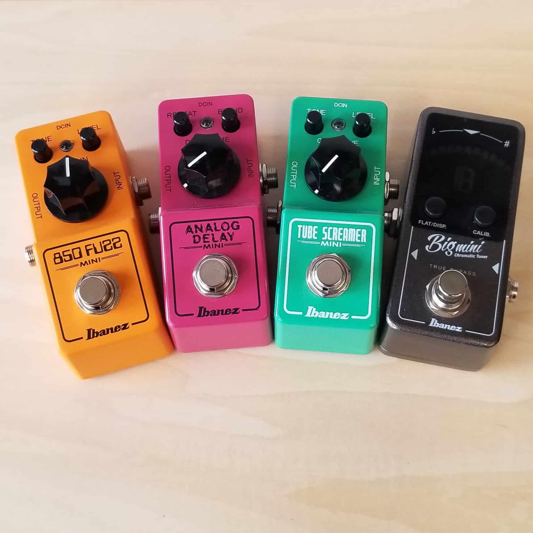 Ibanez Mini Effects pedals 850 Fuzz, Analog Delay, Tube Screamer, Big Mini