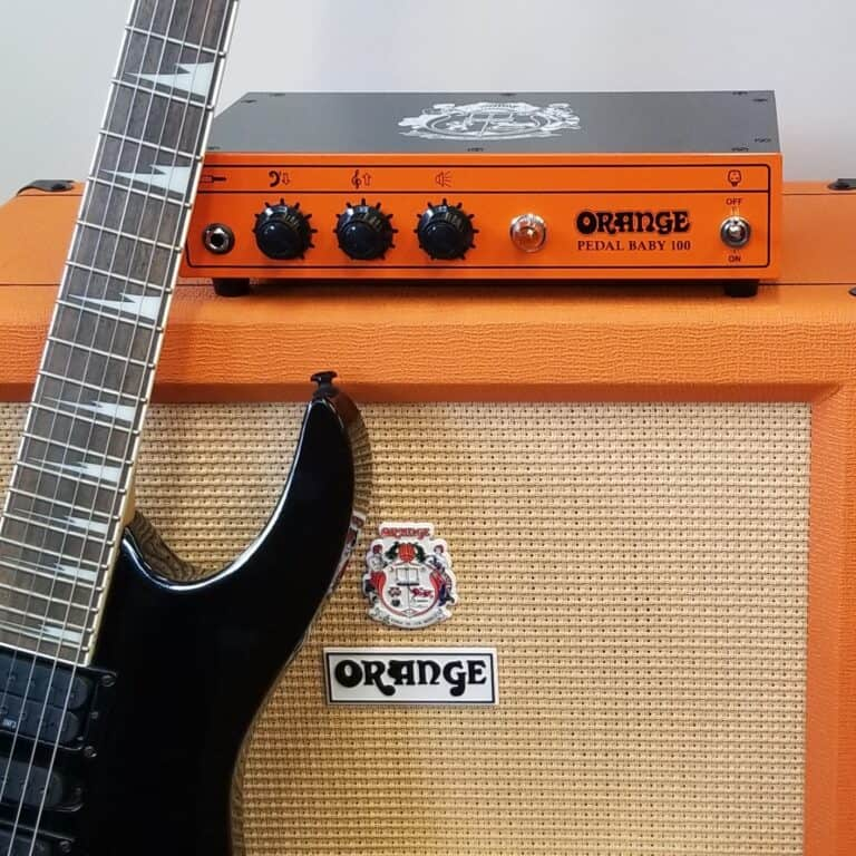Orange Crush electric guitar amp and Pedal Baby 100 Pre-amp