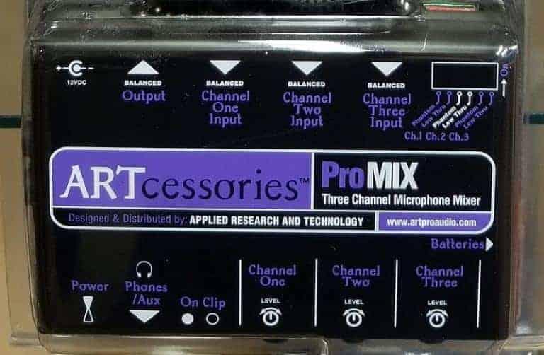 ART promix 3 three channel microphone mixer