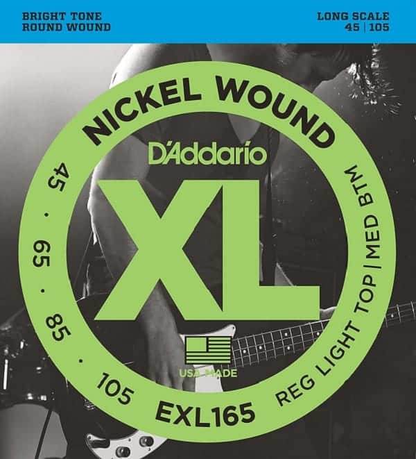 D'addario XL bass guitar strings EXL165