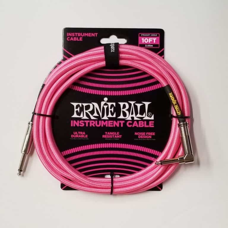 Ernie Ball braided instrument cable pink 10 foot
