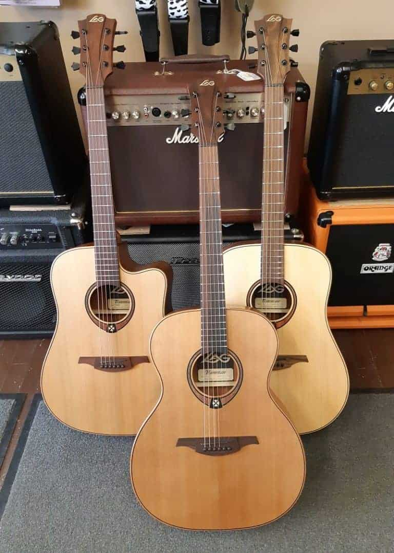 LAG Guitars Set of Three Shot