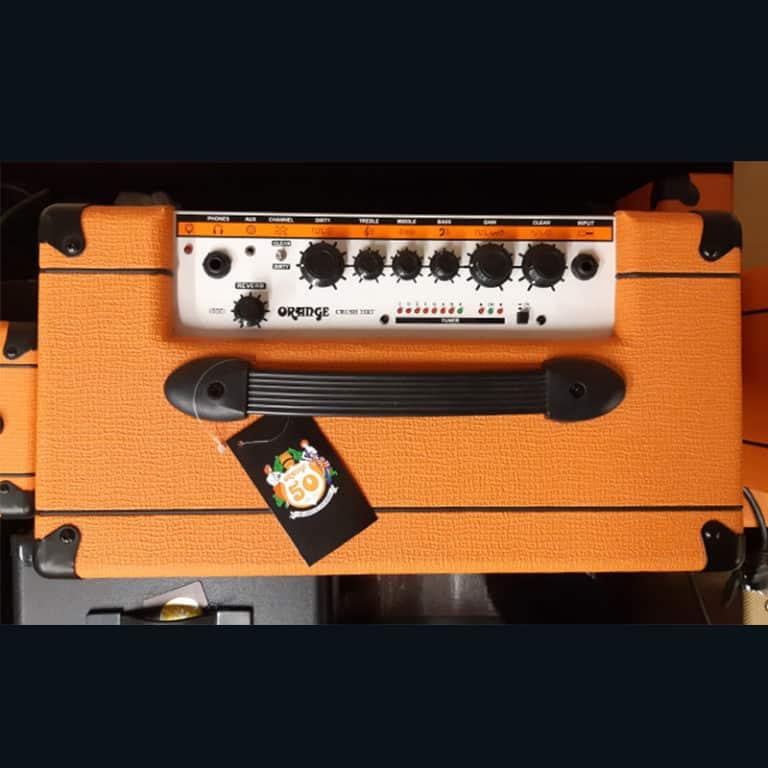 Orange amp top view