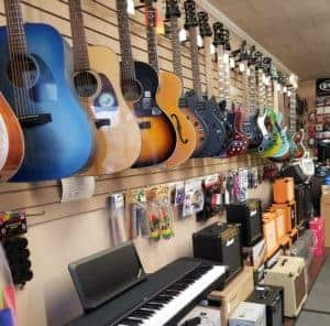 A&R Music store inside