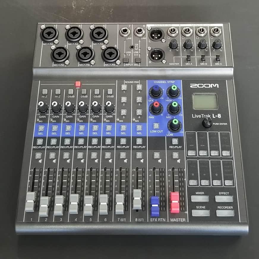 Zoom LiveTrak L-8 channel mixer