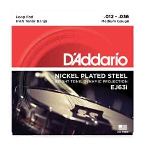 D'Addario Nickel plated steel irish tenor banjo strings EJ631