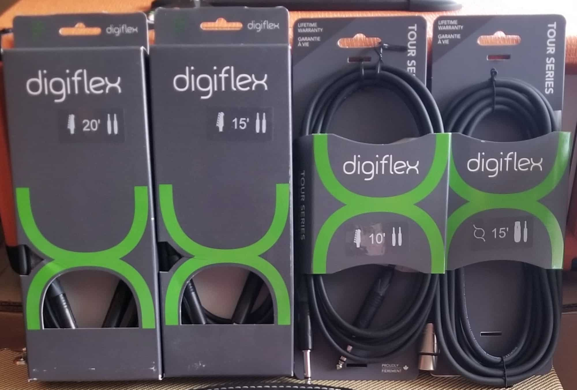 digiflex 10, 15 and 20 foot instrument and microphone cables