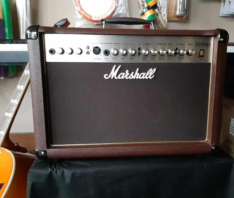 Marshall vintage amp with brown leather