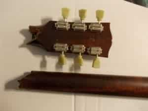 Broken headstock on les paul guitar