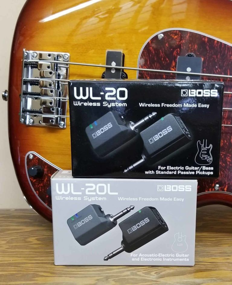 Boss wireless guitar systems WL-20 and WL-20L for acoustic, electric and bass guitars