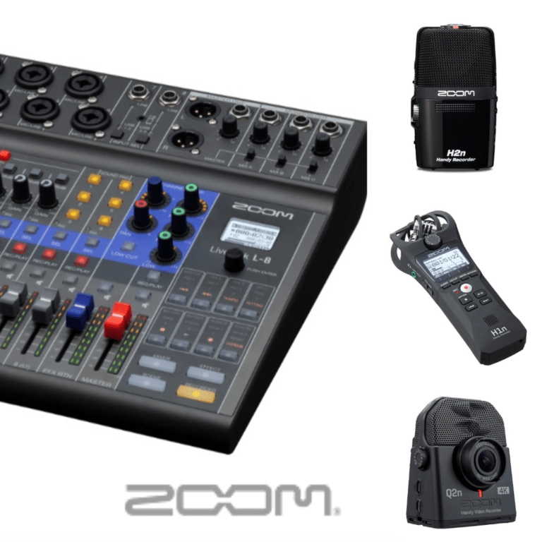 ZOOM 8 channel mixer and video recorders