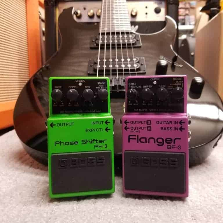 Boss PH-3 Phase Shifter and BF-3 Flanger effects pedals