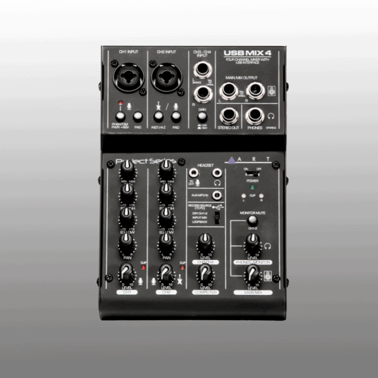 ART USBMix4 4 channel mixer with USB interface