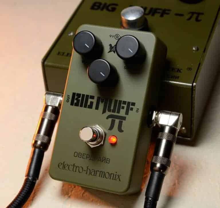 EHX Green Russian Big Muff Pi Effects Pedal