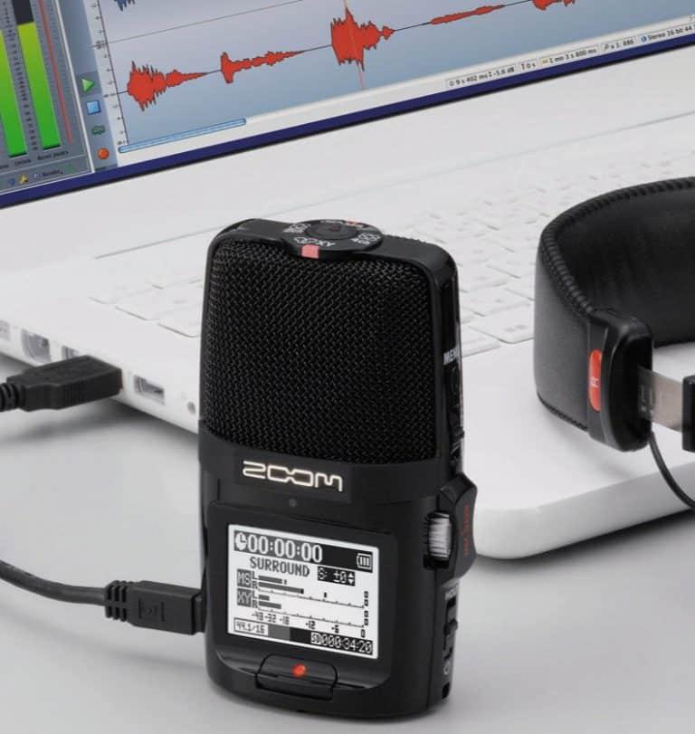 ZOOM H2N Recorder setup