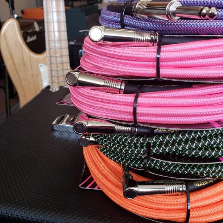 Ernie Ball colourful braided instrument cables