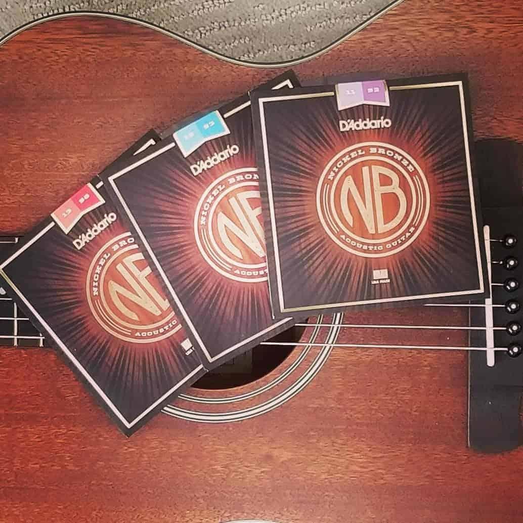 D'Addario Nickel Bronze Acoustic Strings