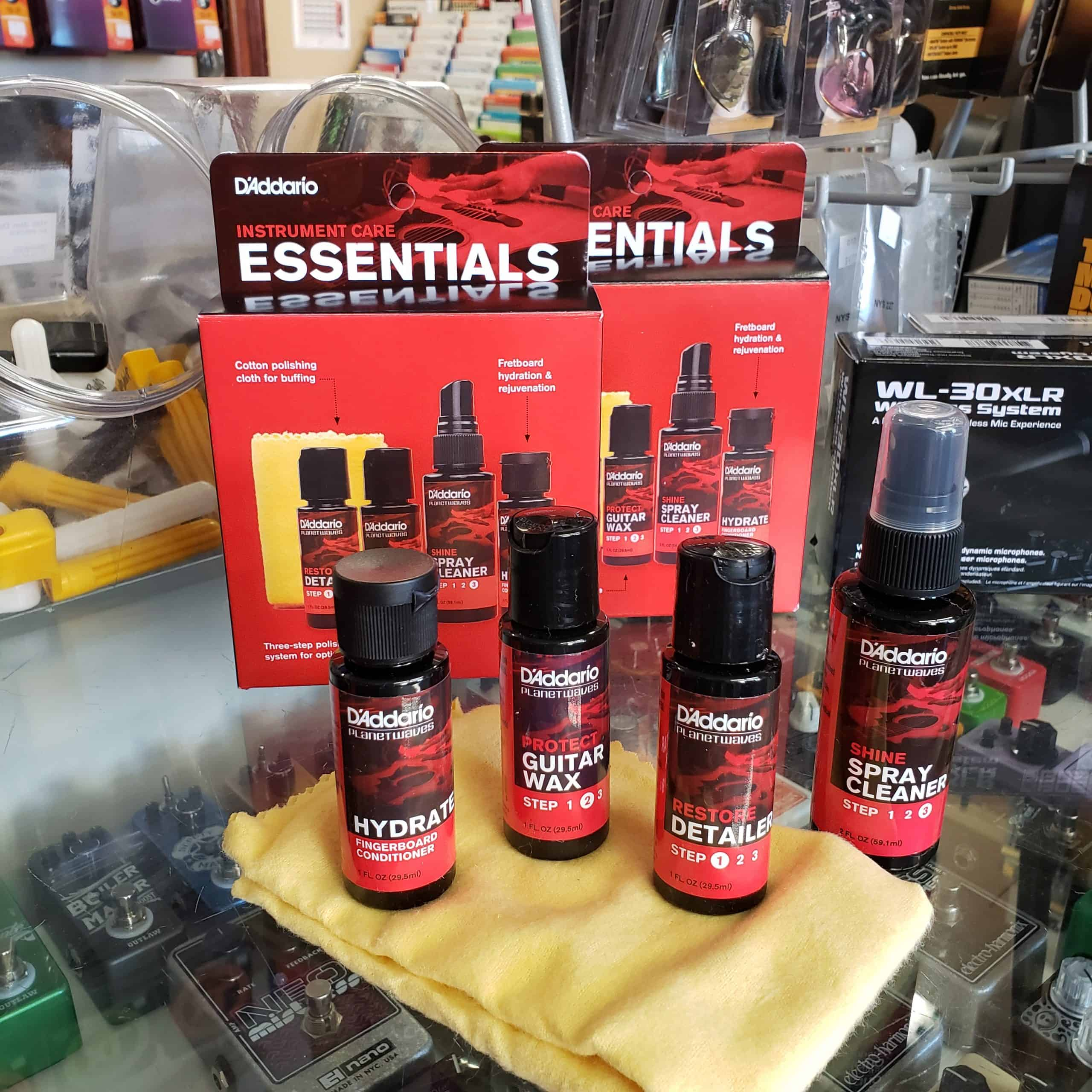 D'Addario Essentials Instrument Care Kit