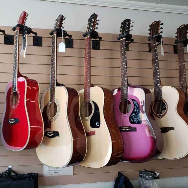Oscar Schmidt, Epiphone and LAG acoustic guitars